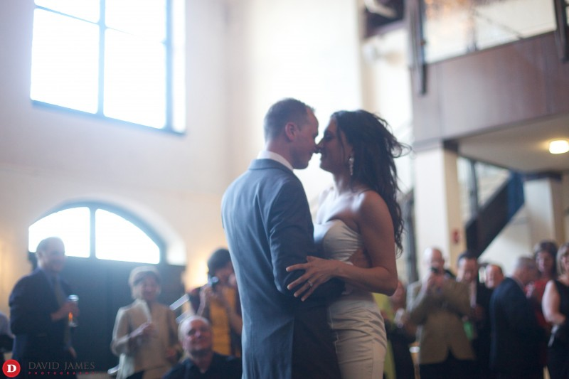 Evelyn and Paul's First Dance at the Phoenixville Foundry - ©David James Photography