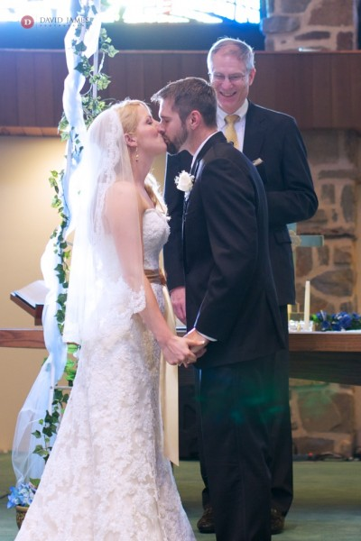 Jessica & Buddy's First Kiss (As man & wife) - ©David James Photography