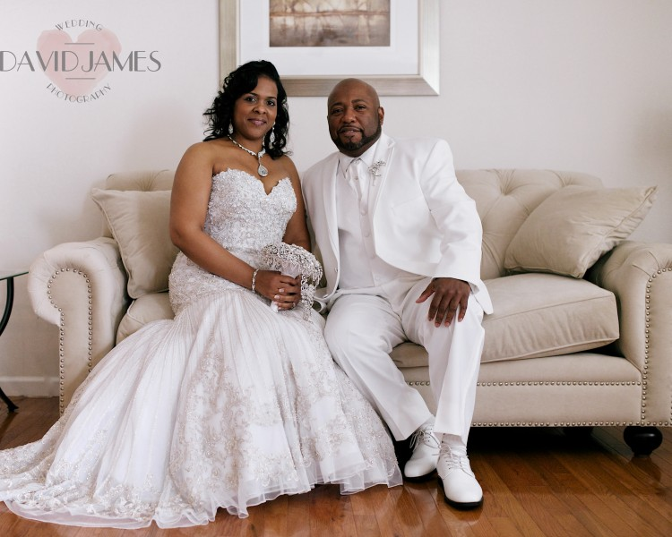 bride and groom, couch