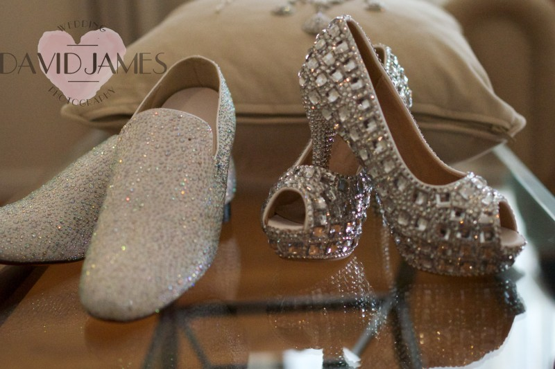 crystal, shoes